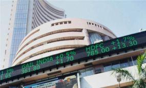 After continous fall, Sensex climbs 279 points on positive macro data