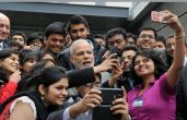 Patel protests to welcome Modi on US soil