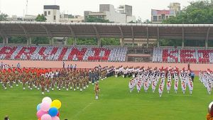"""Kejriwal called """"megalomaniac"""" after school children display formation of his name at I-day celebration"""