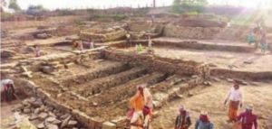 2,500 year old temple lost in floods excavated; dates back to Mauryan Empire!