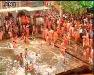 Lakhs gather to take holy dip during Kumbh festival in Nashik and Trimbakeshwar