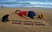Sand artist Sudarsan Pattnaik's tribute to Aylan Kurdi