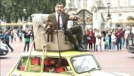 Mr Bean's 25th birthday: Watch the funny man continue his antics at Buckingham Palace