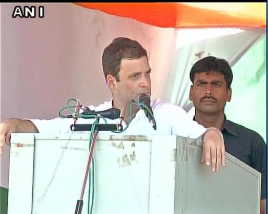 What did Rahul Gandhi say at West Champaran rally in Bihar?