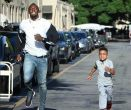 Video: 8 year-old out-sprints Usain Bolt