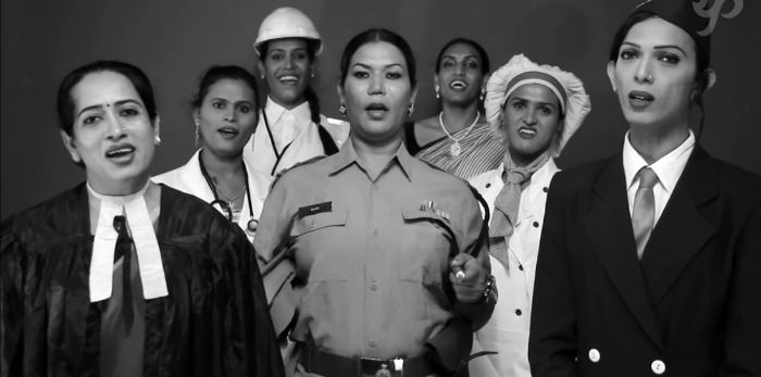 India's third gender's voice heard singing the national anthem; watch this beautiful video