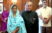 Prez Pranab Mukherjee meets Geeta at Rashtrapati Bhavan