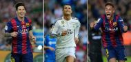 The contenders: how Neymar, Ronaldo and Messi compare ahead of Ballon d'Or announcement