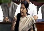 Opposition protests drown Sushma Swaraj's statement in Rajya Sabha
