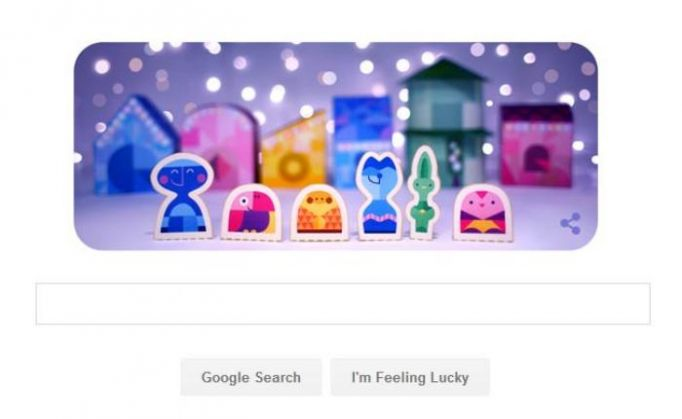 google wishes merry christmas with a special papercraft doodle catch news