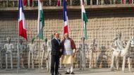 Watch: Modi greets Hollande in Chandigarh's Rock Garden