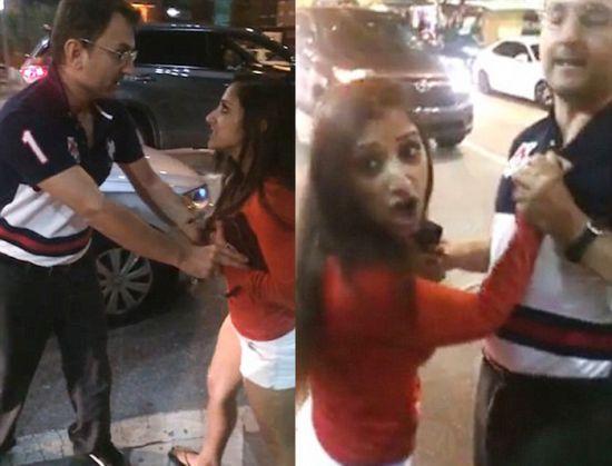 Drunk indian girl