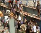 तस्वीरें: कोलकाता में फ्लाईओवर हादसे में मरने वालों की संख्या 21 हुई