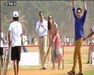तस्वीरेंः भारत दौरे पर प्रिंस विलियम-केट मिडल्टन, सचिन संग खेला क्रिकेट