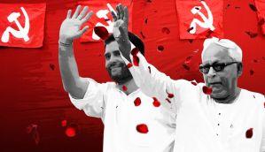Rare moment of camaraderie: Rahul and Buddhadeb share stage in Kolkata