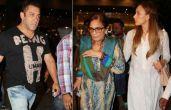 तस्वीरेंः मां और गर्लफ्रेंड लूलिया के साथ एयरपोर्ट पर दिखे सलमान खान