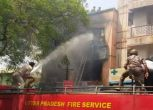 गाजियाबाद: आग में झुलसकर इंडिया मार्ट के पांच कर्मचारियों की मौत