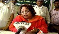 सलमा अंसारी: 'ओम' बोलने में कोई बुराई नहीं