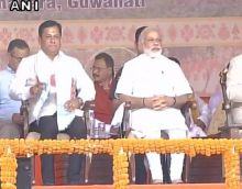 BJP's Sonowal takes oath as 14th Assam CM, with PM Modi's cabinet, NDA CMs in attendance