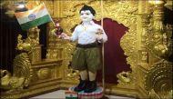 भगवान स्वामीनारायण को पहनाई आरएसएस की यूनिफॉर्म