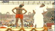 राजपथ पर तेरी दीवानी की धुनों पर बाबा रामदेव ने कराया योग दिवस का मेगा रिहर्सल