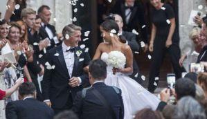 In photos: Bastian Schweinsteiger and Ana Ivanovic's wedding at Venice church