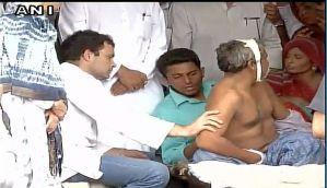 Rahul Gandhi meets Dalit victims of cow vigilantes in Una, Gujarat