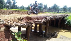 In pictures: Villagers in Kanker district have a wooden bridge to thank