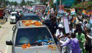 तस्वीरें: पीएम मोदी के गढ़ में सोनिया गांधी के रोड शो से 'कांग्रेसमय' हुई काशी