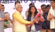 In photos: Grand welcome for Olympic bronze medallist Sakshi Malik