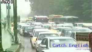 In photos: Flights delayed, roads jammed as rain brings Delhi, Gurugram to a standstill