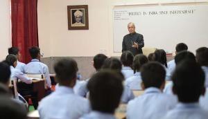 In photos: President Mukherjee teaches a class on Teachers' Day