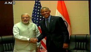 PM Modi meets US President Obama at Vientiane, Laos