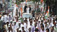 किसान यात्रा के पांचवें दिन राहुल मुलायम के गढ़ आजमगढ़ में