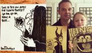 In pictures: Toon-loving super dad draws gorgeous illustrations to remind daughter to eat