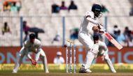 कोलकाता टेस्ट: पुजारा और रहाणे की साझेदारी ने टीम इंडिया को उबारा, चाय तक स्कोर-136/3