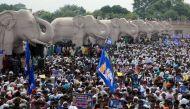 माया की रैली में दलित-मुसलमान लामबंद, भगदड़ में दो की मौत
