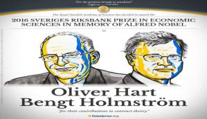 2016 Nobel prize in Economics awarded to Harvard professor Oliver Hart and MIT's Bengt Holmström