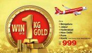 केवल 999 रुपये में हवाई यात्रा के साथ 1 किलो सोना जीतने का मौका