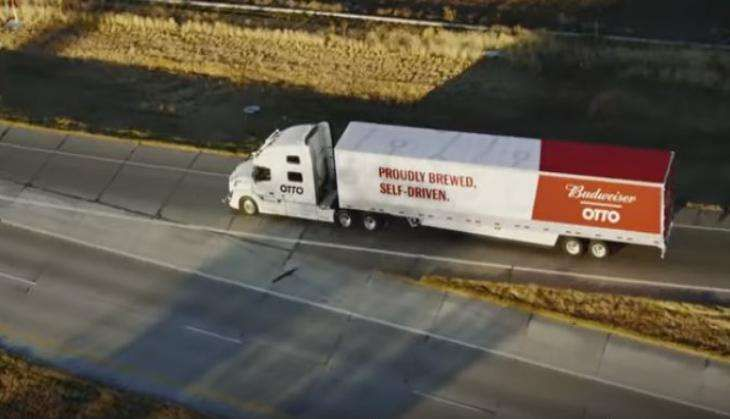 Uber's self-driving truck delivers 50,000 cans of Budweiser