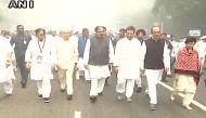 इंदिरा गांधी की पुण्यतिथि: कांग्रेस मुख्यालय से इंदिरा मेमोरियल तक राहुल का यूनिटी मार्च