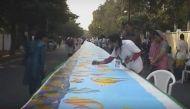 गिनीज वर्ल्ड रिकॉर्डः चीन को पीछे कर मेरठ में बनी दुनिया की सबसे लंबी पेंटिंग