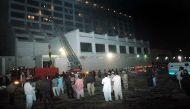 कराची के होटल में लगी भीषण आग, 11 लोगों की मौत