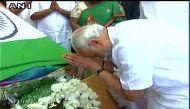 PM Modi visits Chennai, pays floral tribute to Jayalalithaa