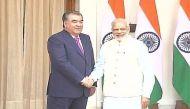 ताजिकिस्तान के राष्ट्रपति ने पीएम मोदी से मुलाकात की