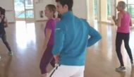 Novak Djokovic sneaked into a dance class, and then did this