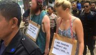 Indonesia: 'Walk of Shame' for Australian tourists for stealing a bike