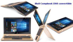 आईबॉल ने पेश किया विंडोज 10 से लैस सस्ता टचस्क्रीन लैपटॉप