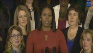 आखिरी स्पीच देते हुए भावुक हुर्इं मिशेल ओबामा, देश के नाम दिया खास संदेश