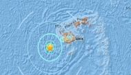 फिजी में 6.1 तीव्रता का जोरदार भूकंप